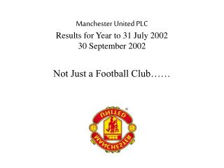Not Just a Football Club…….