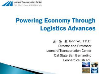 Powering Economy Through Logistics Advances