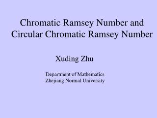 Chromatic Ramsey Number and Circular Chromatic Ramsey Number