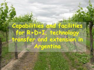 Capabilities and facilities for R+D+I,  technology  transfer and extension in Argentina