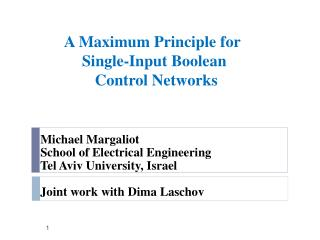 A Maximum Principle for   Single-Input Boolean  Control Networks
