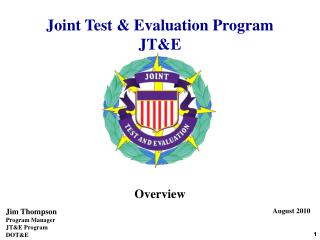 Joint Test & Evaluation Program JT&E