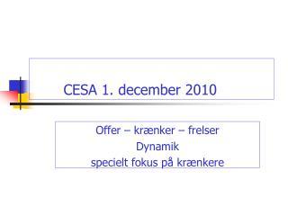 CESA 1. december 2010