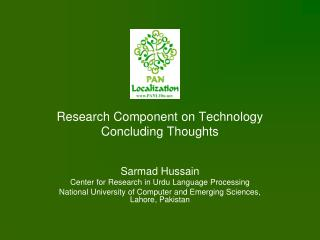 Research Component on Technology Concluding Thoughts