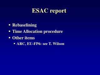 ESAC report