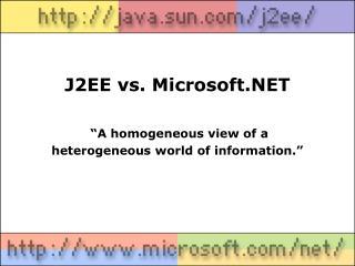 J2EE vs. Microsoft.NET