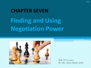Finding and Using Negotiation Power