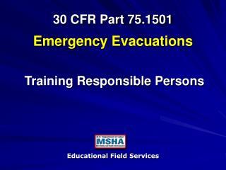 30 CFR Part 75.1501