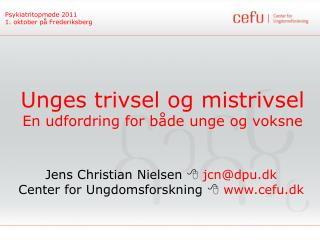 Psykiatritopmøde 2011 1. oktober på Frederiksberg