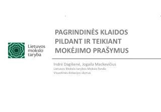PAGRINDINĖS KLAIDOS PILDANT IR TEIKIANT MOKĖJIMO PRAŠYMUS