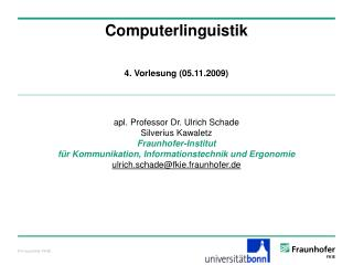 Computerlinguistik