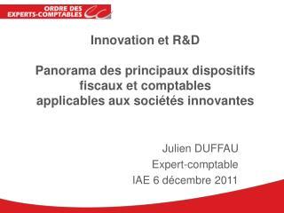 Julien DUFFAU Expert-comptable IAE 6 décembre 2011