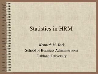 Statistics in HRM
