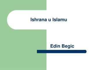 Ishrana u Islamu