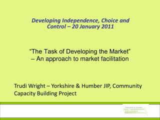 """The Task of Developing the Market"" – An approach to market facilitation"
