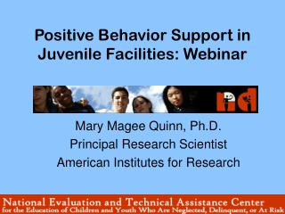 Positive Behavior Support in Juvenile Facilities: Webinar