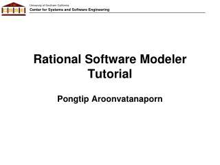 Rational Software Modeler Tutorial