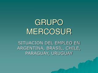 GRUPO MERCOSUR