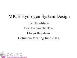 MICE Hydrogen System Design