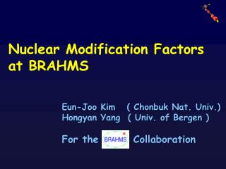 N uclear  M odification F actors  at BRAHMS