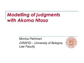 Modelling of judgments  with Akoma Ntoso