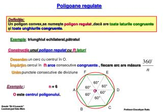 Poligoane regulate