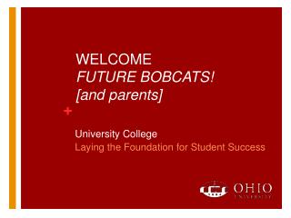 WELCOME  FUTURE BOBCATS! [and parents]