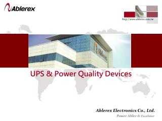 UPS & Power Quality Devices
