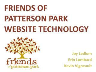 Friends of Patterson Park Website technology