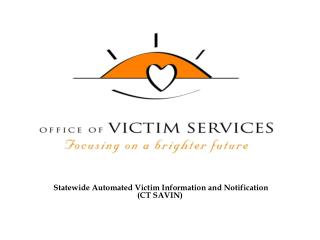 Statewide Automated Victim Information and Notification (CT SAVIN)