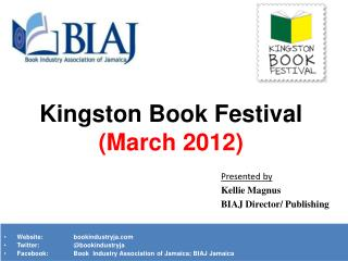 Kingston Book Festival  (March 2012)