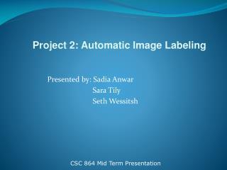 Presented by: Sadia Anwar Sara Tily Seth Wessitsh