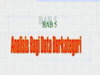 Analisis Bagi Data Berkategori