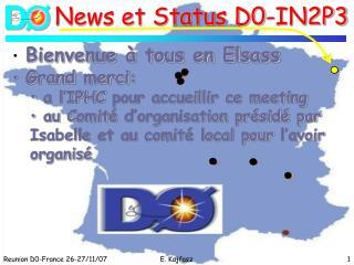 Bienvenue à tous en Elsass Grand  merci :  a l'IPHC  pour accueillir ce meeting