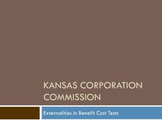 Kansas corporation commission