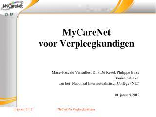 MyCareNet voor Verpleegkundigen