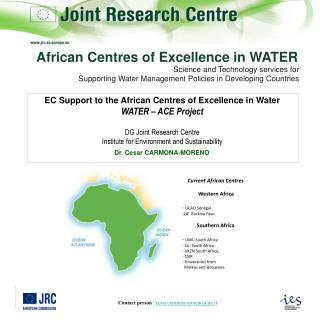 Science and Technology services for  Supporting Water Management Policies in Developing Countries