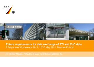 Future requirements for data exchange of PTI and CoC data