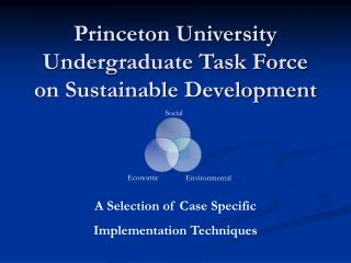 Princeton University  Undergraduate Task Force on Sustainable Development