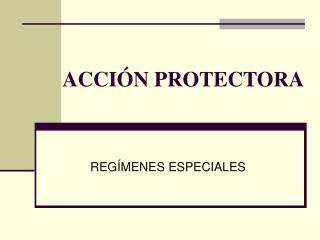 ACCI�N PROTECTORA