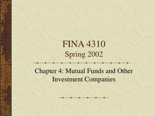 FINA 4310 Spring 2002