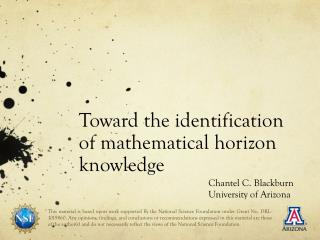 Toward the identification of mathematical horizon knowledge