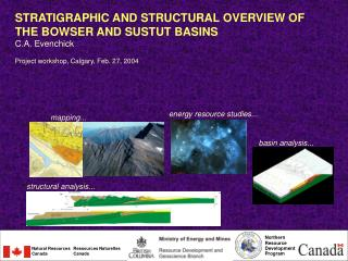 STRATIGRAPHIC AND STRUCTURAL OVERVIEW  OF  THE  BOWSER AND SUSTUT BASINS  C.A. Evenchick