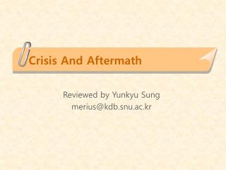 Crisis And Aftermath
