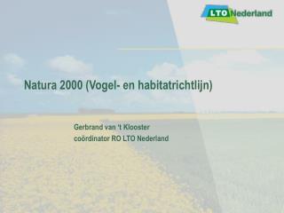 Natura 2000 (Vogel- en habitatrichtlijn)