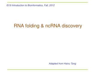 RNA folding & ncRNA discovery