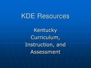 KDE Resources