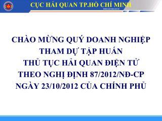 CỤC HẢI QUAN TP.HỒ CHÍ MINH