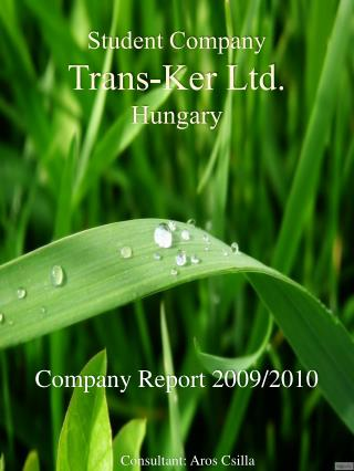 Student Company Trans-Ker Ltd. Hungary
