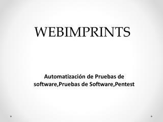 Automatizaci�n de Pruebas de software